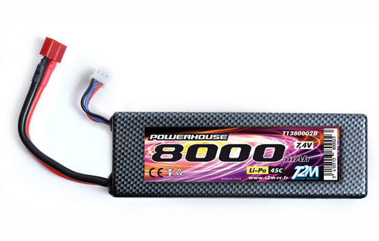 T2M Pack Li-Po Car 7,4V 8000mAh 45C