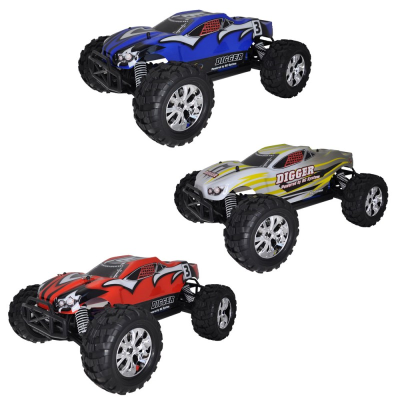 rc system buggy digger 4x4 brushed rtr rc707t